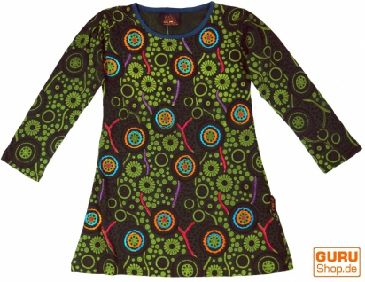 Bestickte Mädchen Tunika, Ethno Minikleid, Kinderkleid - lemon
