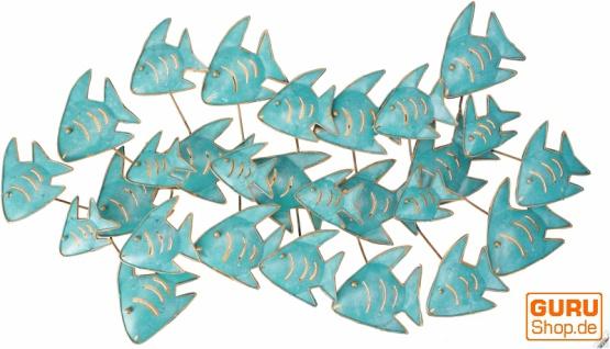 Exotische Wanddekoration Fischschwarm - Modell 1