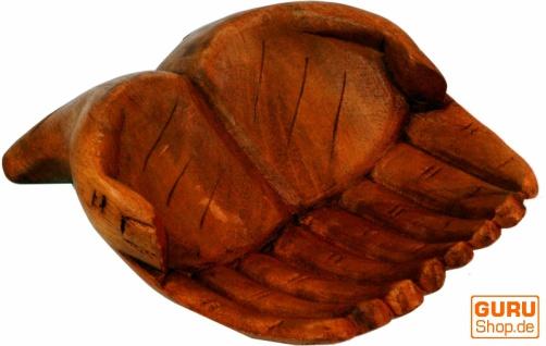 Geschnitzte Hände, Holzschale Hand