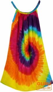 Batik Kinderkleid Regenbogen, Trägerkleid, Sommerkleid, Mädchenkleid - bunt