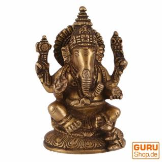 Messingfigur Ganesha Statue 12 cm - Motiv 20