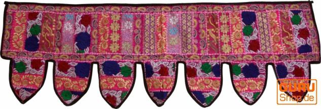 Orientalischer Wandbehang, indischer Toran, Wimpel Wandteppich, Wanddekoration, Tür Deko Einzelstück 150*45 cm - Design 4