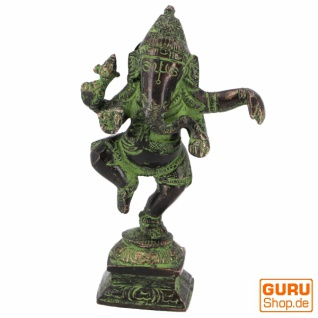 Messingfigur Ganesha Statue, tanzender Ganesha 11 cm - Motiv 17