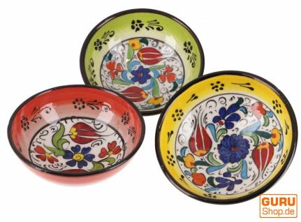 3`er Set Orientalische Schüsseln, Schale, Müslischale Ø 13 cm, handbemalt - Set 11