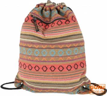 Turnbeutel Rucksack Ethnorucksack - orange