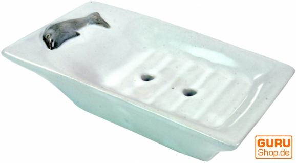 Keramik Seifenschale `Delfin-weiß`