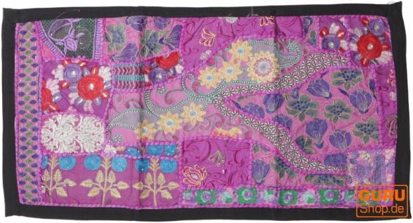 Indischer Wandteppich Patchwork Wandbehang, Tischläufer, Einzelstück 85*45 cm - Muster 21