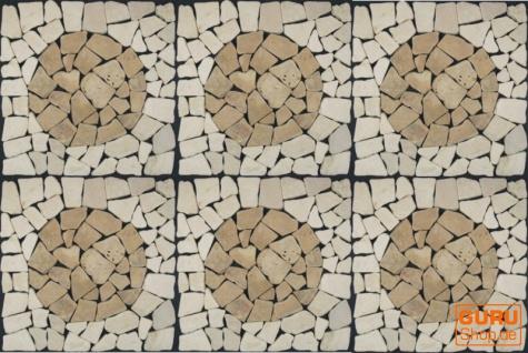 Mosaikfliese mit Kreis aus Marmor (Mo-07) - Design 19 - Vorschau 3