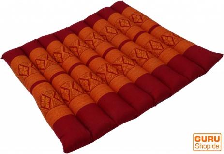 Thai Stuhlkissen, Bodenkissen, Sitzunterlage aus Kapok, 35*40 cm - rot/orange