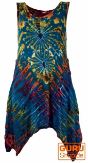 Batikkleid, Minikleid, Boho Pixi Kleid - petrol