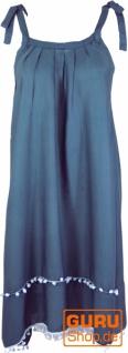 Minikleid, Ibizakleid, Sommerkleid, Trägerkleid, Hippiekleid - taubenblau