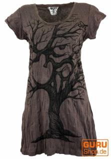 Sure Long Shirt, Minikleid OM Tree - taupe
