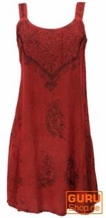 Besticktes Indisches Minikleid Boho chic, Hippie Tunika - rot Design 16