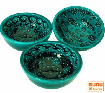 1 Stk. Orientalische Schüssel, Schale, Müslischale, handbemalt - Ø 8 cm - Vorschau