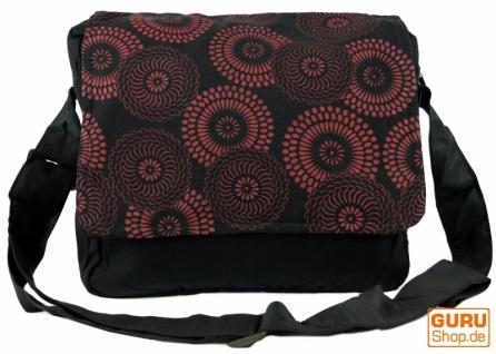 Schultertasche, Hippie Tasche, Goa tasche schwarz-braun