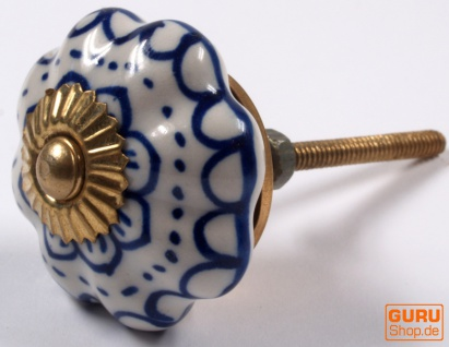 Möbelknopf Rose aus Keramik, Möbelknauf Möbelgriff, Schranktürknöpfe, Möbelknöpfe, Schubladengriff - Modell 51