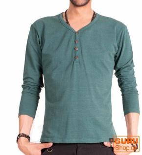 Pullover, Langarmshirt aus Bio-Baumwolle / Chapati Design - peacock blue