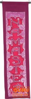 Boho Wandbehang, Batik Wandschmuck - Namaste pink