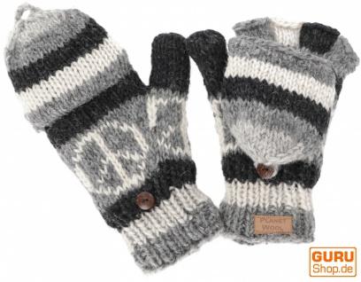 Handschuhe, handgestrickte Klapphandschuhe, Fingerhandschuhe - Modell 3