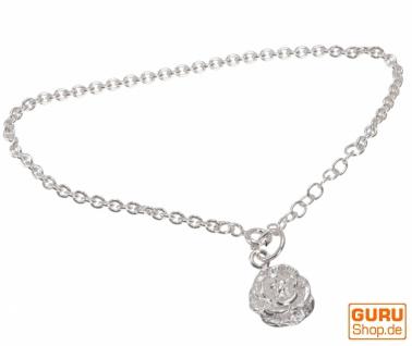 Silber Armkettchen, Boho Armschmuck - Rose 2