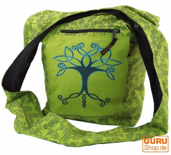 Sadhu Bag, Shopper, Schulterbeutel - lemongrün