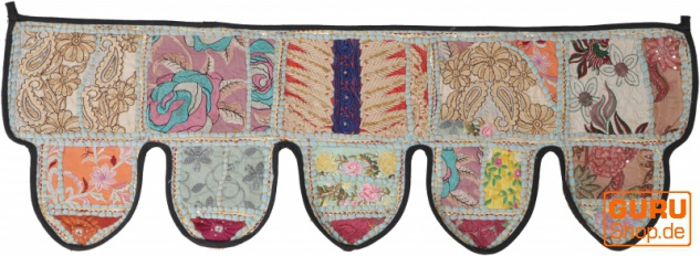 Orientalischer Wandbehang, indischer Toran, Wimpel Wandteppich, Wanddekoration, Tür Deko Einzelstück 100*30 cm - Design 29