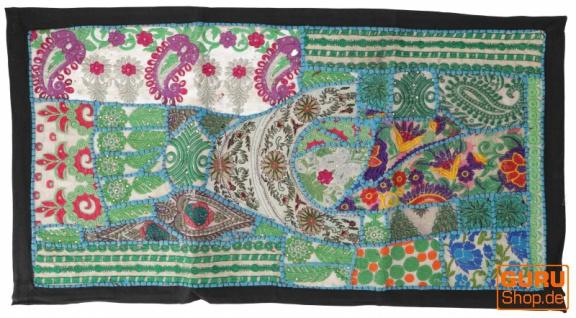 Indischer Wandteppich Patchwork Wandbehang, Tischläufer, Einzelstück 85*45 cm - Muster 14