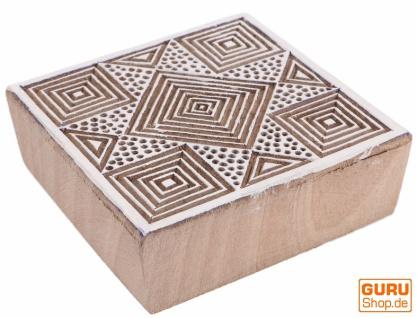 Indischer Textilstempel, Stoffdruckstempel, Blaudruck Stempel, Holz Model - 7*7 cm Stern 2