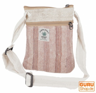 Hanf Schultertasche, Hippie Tasche, Nepal Tasche - natur/braun