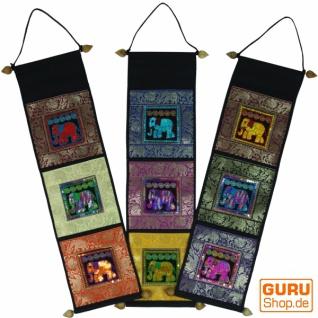 Brokat Wandtasche mit 3 Fächern aus Thailand - Muster 5