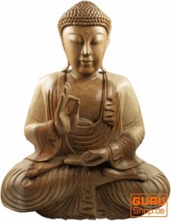 Holzbuddha, Buddha Statue, handarbeit 50 cm - Design 14