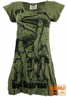 Sure Long Shirt, Minikleid Magic Mushroom - olive