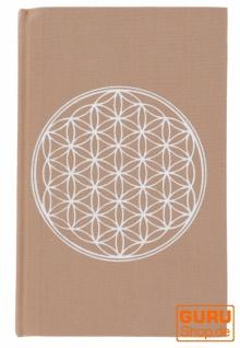 Notizbuch, Tagebuch - Blume des Lebens cappuccino