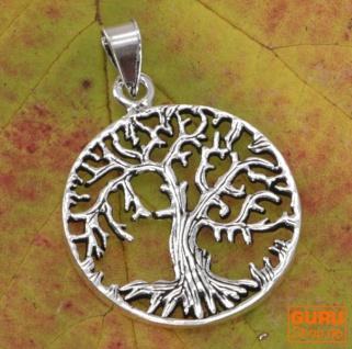 Silberanhänger Baum des Lebens, Tree of Life Talisman - Model 7