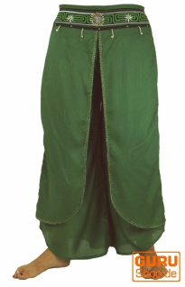 Palazzohose, offene Sommerhose, Chang Hose - grün