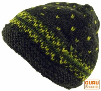 Beanie Mütze, Strickmütze - olivgrün