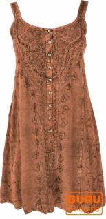 Besticktes indisches Minikleid Boho chic, Hippie Tunika - braun/Design 10
