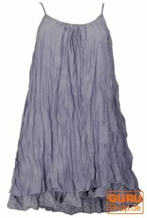 Boho Krinkelkleid, Minikleid, Sommerkleid, Strandkleid, Lagenkleid - taubenblau