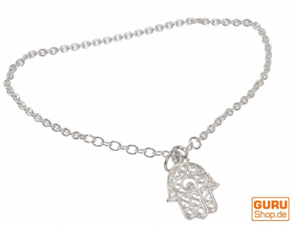 Silber Armkettchen, Boho Armschmuck - Fatimas Hand 1
