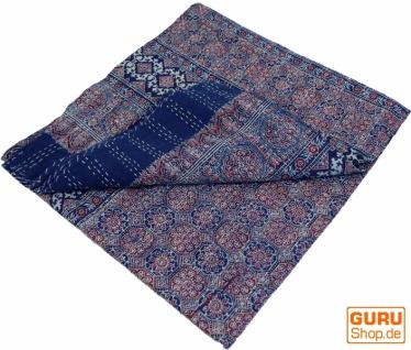 Quilt, Steppdecke, Tagesdecke Bettüberwurf, Besticktes Tuch, Indischer Bettüberwurf, Tagesdecke - Muster 14