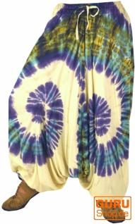 Batik Pluderhose Aladinhose - naturweiß