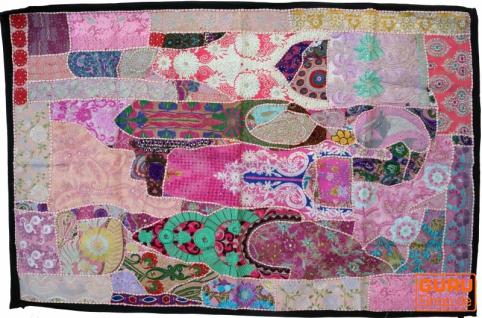Indischer Wandteppich Patchwork Wandbehang, Einzelstück 150*100 cm - Muster 18