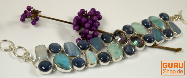 Indisches Silberarmband Opal