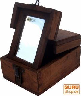 Spiegelschatulle Schmink Spiegel - antik 1