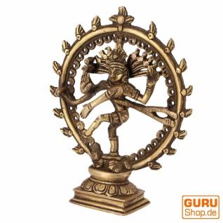 Messingfigur, Statue Shiva im Feuerkranz 17 cm - Motiv 11 - Vorschau 2
