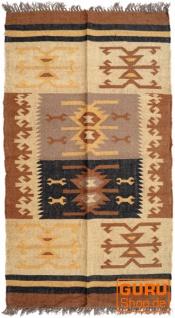 Orientalischer grob gewebter Kelim Teppich 160*90 cm - Muster 9