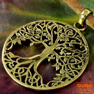 Amulett `Baum des Lebens` Kettenanhänger aus Messing - Model1