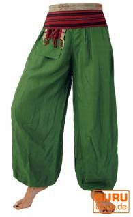 Muckhose Pluderhose Pumphose Chang - grün