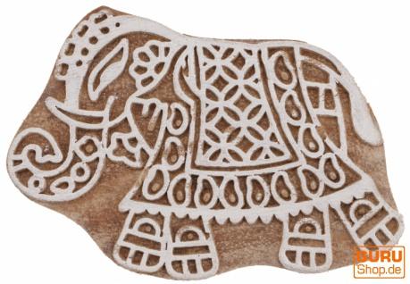 Indischer Textilstempel, Stoffdruckstempel, Blaudruck Stempel, Holz Model - 5*8 cm Elefant 1