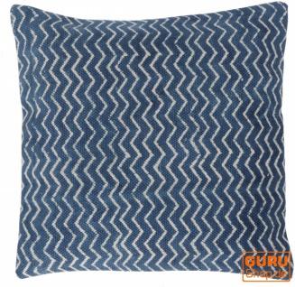 Gewebter Kelim Kissenbezug Blockdruck, Dekokissen Bezug, Boho Kissen traditionelle Herstellung - Muster 1